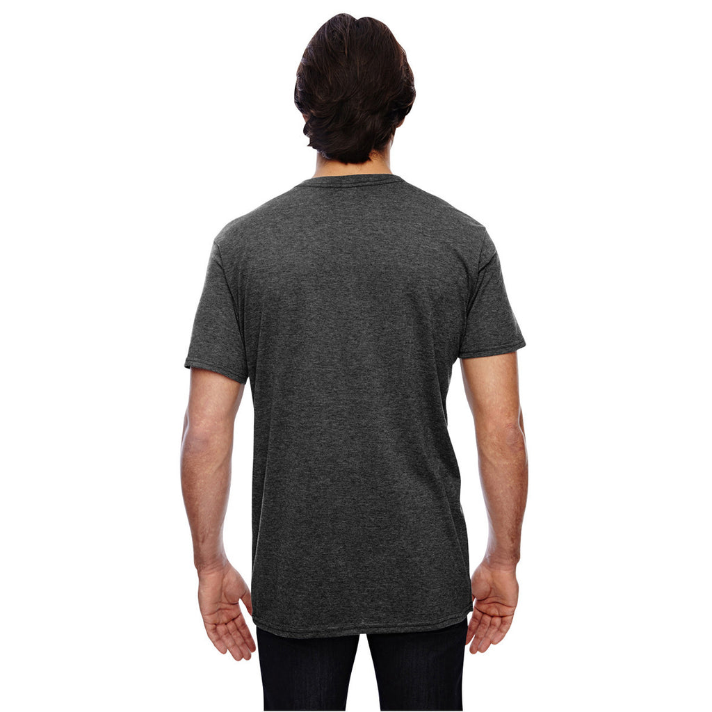 Anvil Men's Heather Dark Grey 3.2 oz. Featherweight Short-Sleeve T-Shirt