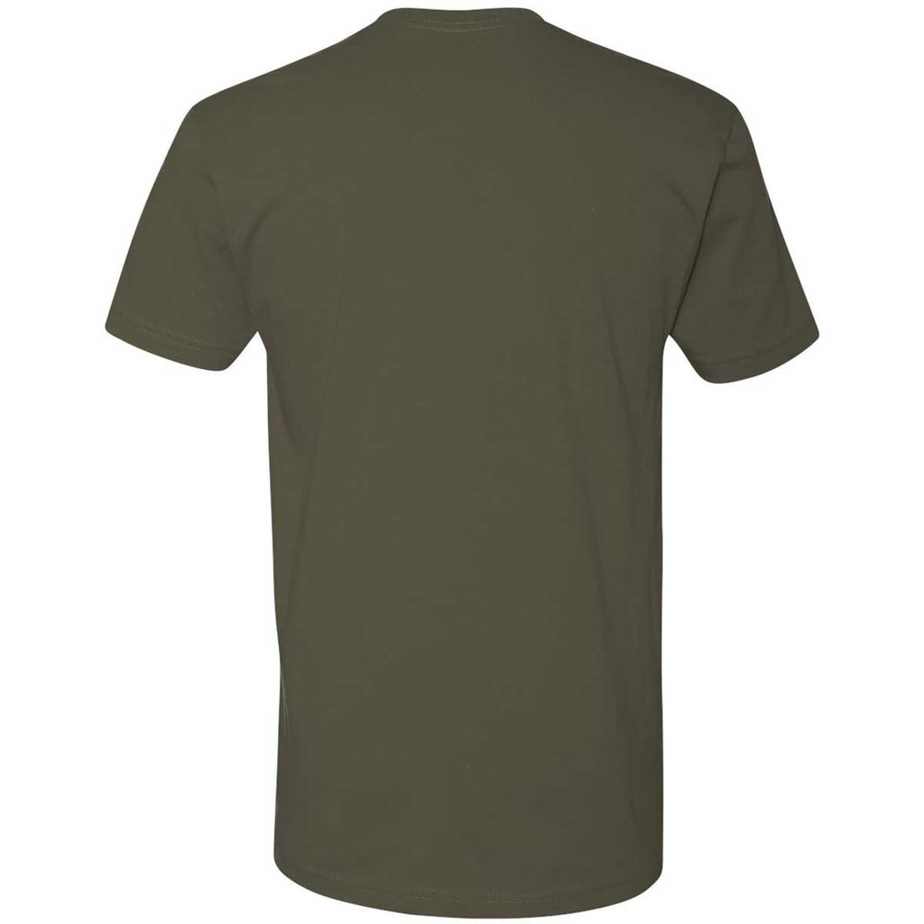 Next Level Men's Military Green Premium Fitted Short-Sleeve Crew