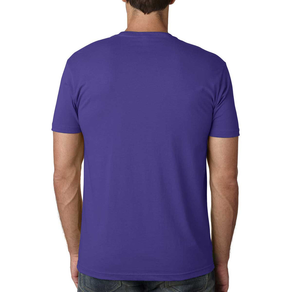 Next Level Men's Purple Rush Premium Fitted Short-Sleeve Crew
