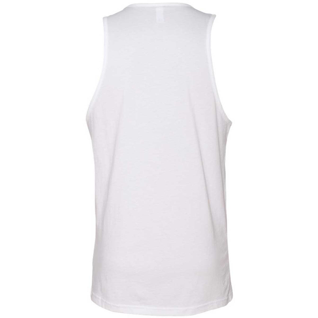 Next Level Men's White Premium Jersey Tank