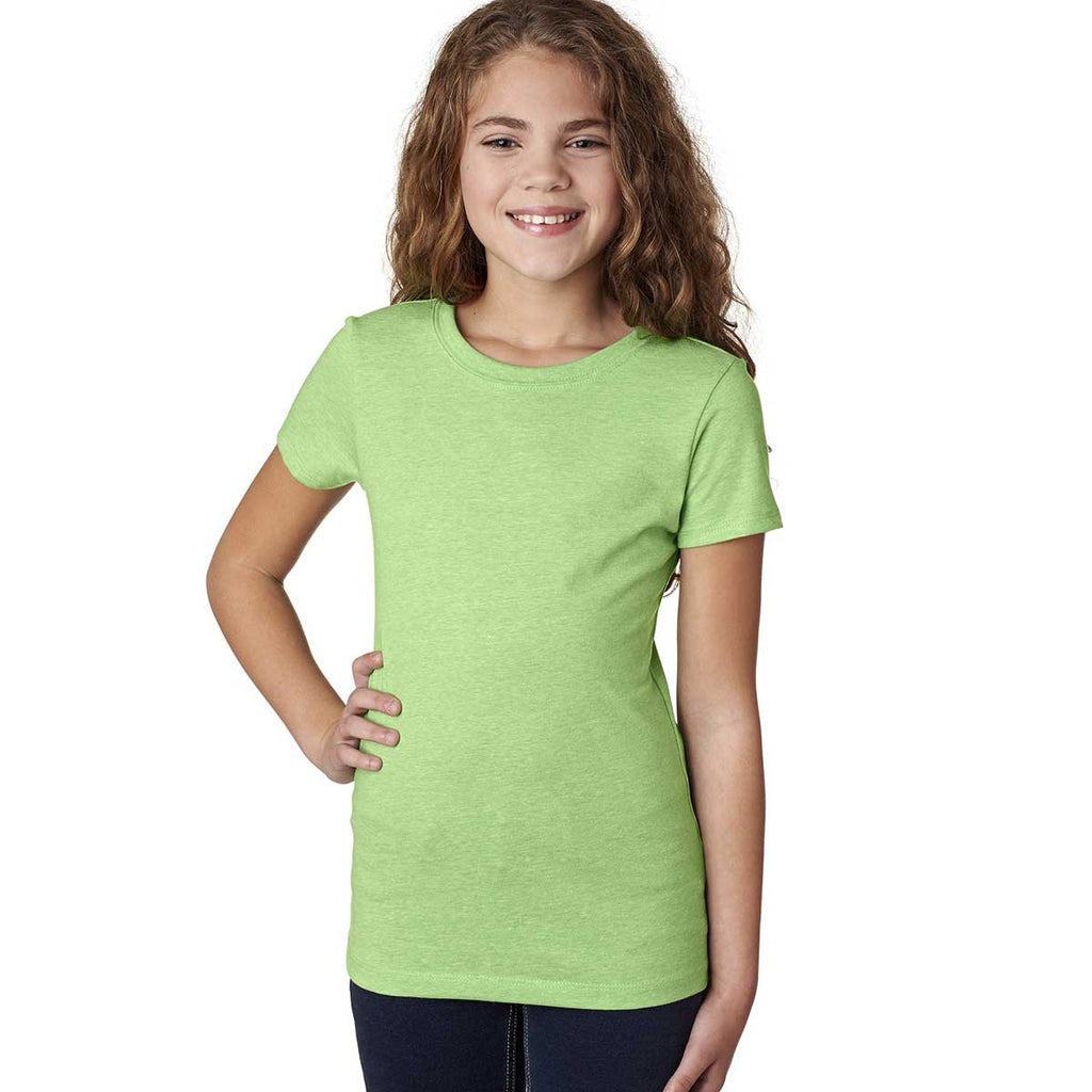 Next Level Girl's Apple Green Princess CVC Tee