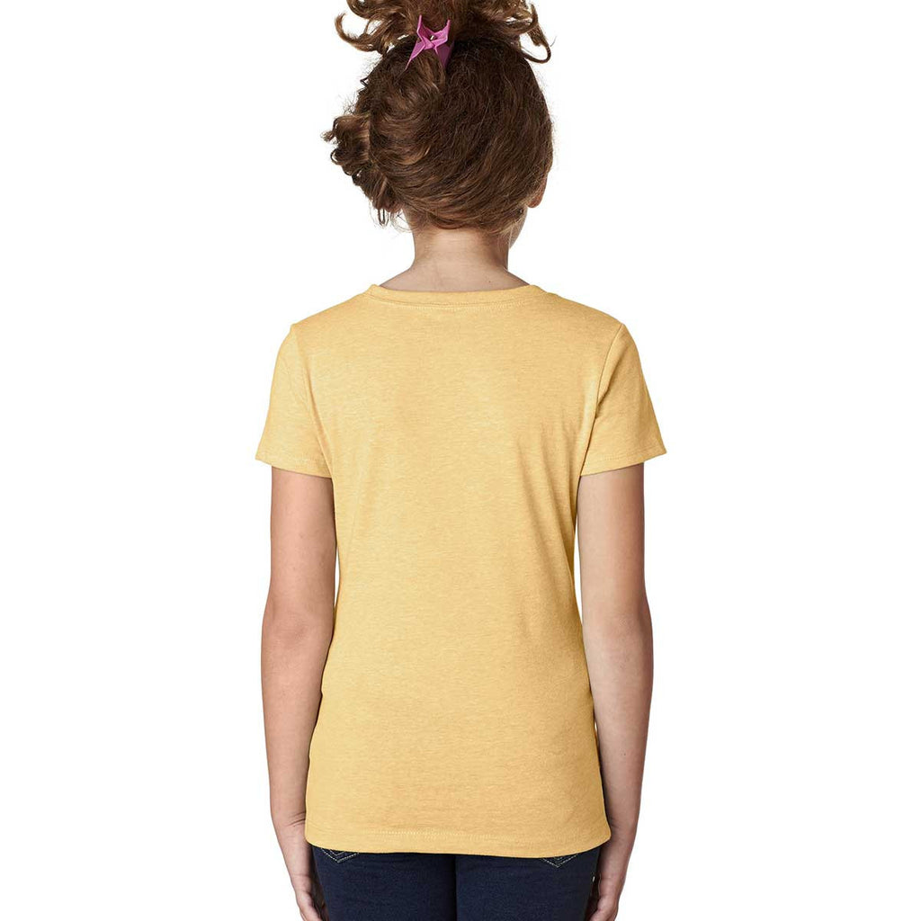 Next Level Girl's Banana Cream Princess CVC Tee