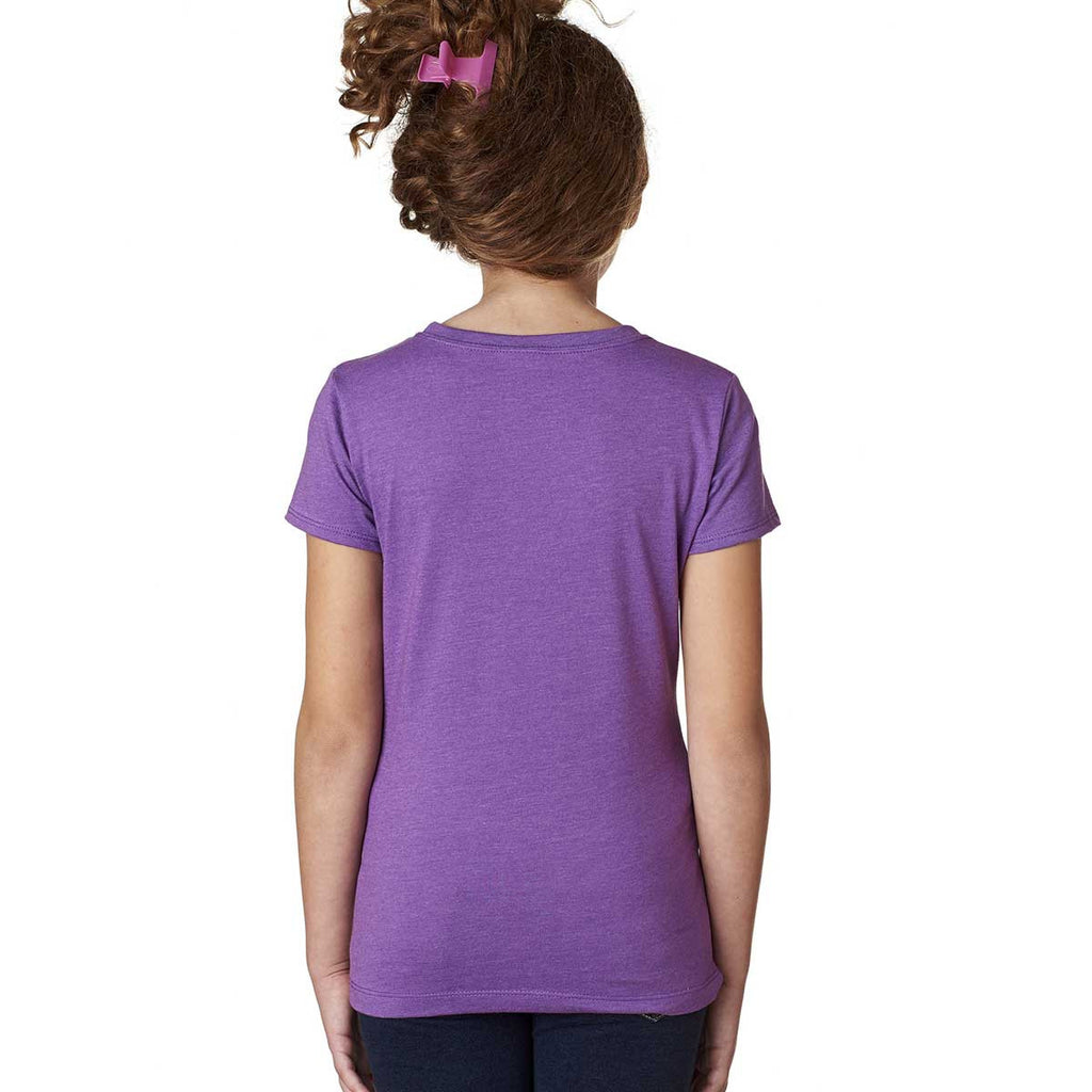 Next Level Girl's Purple Berry Princess CVC Tee