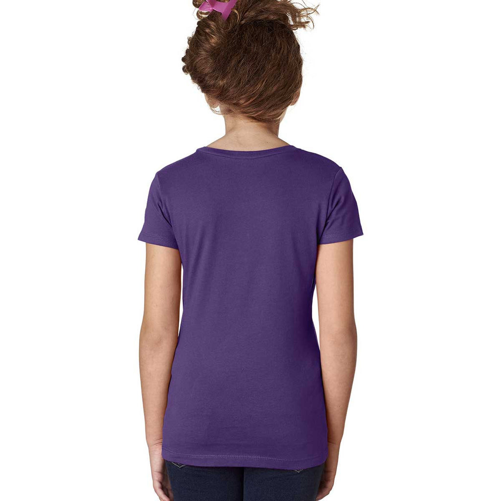 Next Level Girl's Purple Rush Adorable V-Neck Tee