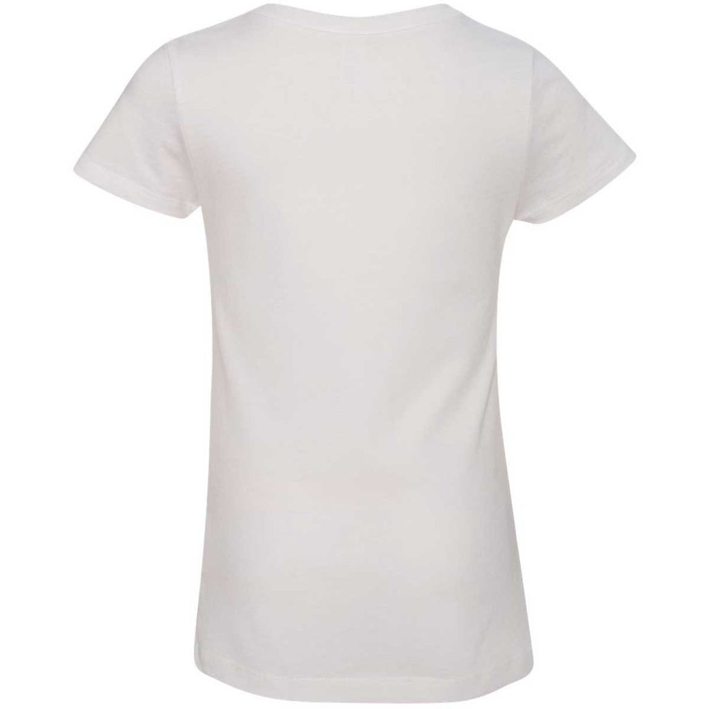 Next Level Girl's White Adorable V-Neck Tee