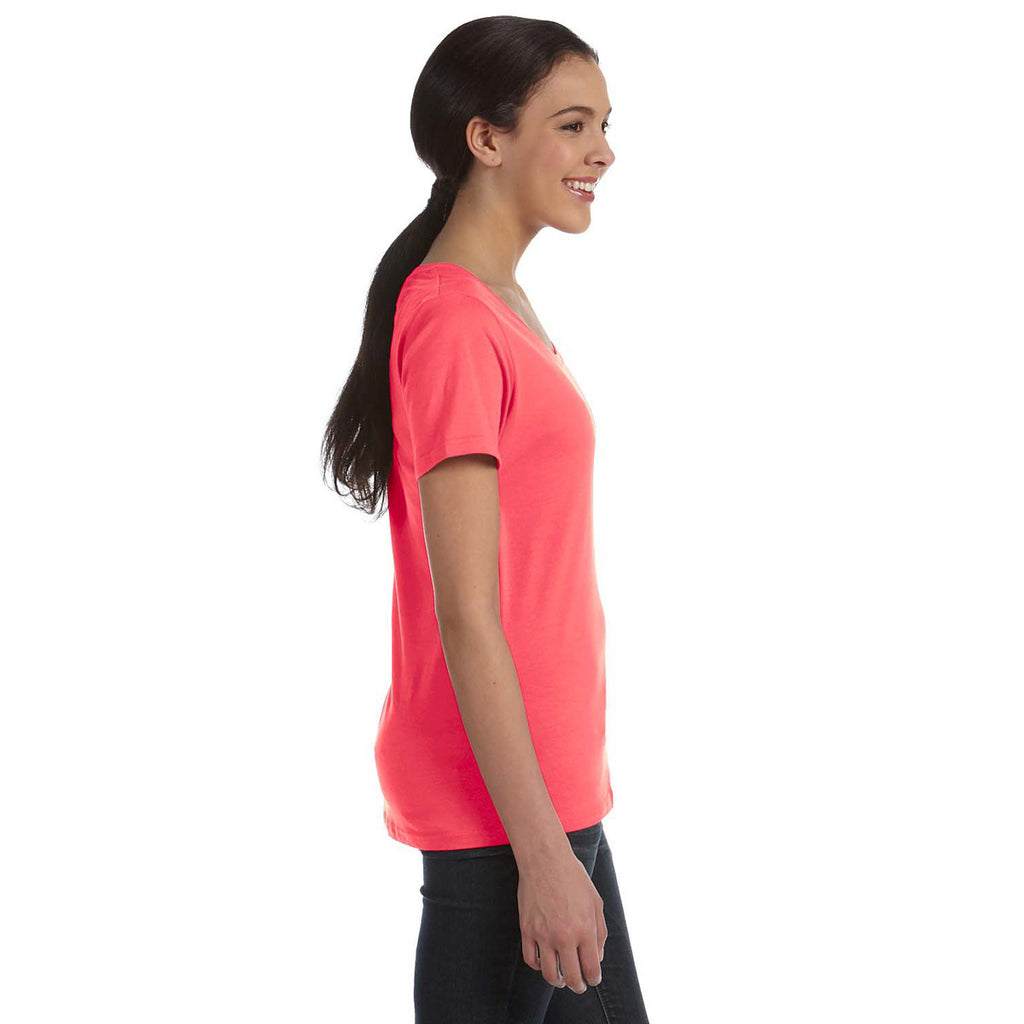Anvil Women's Coral Ringspun Sheer Featherweight T-Shirt
