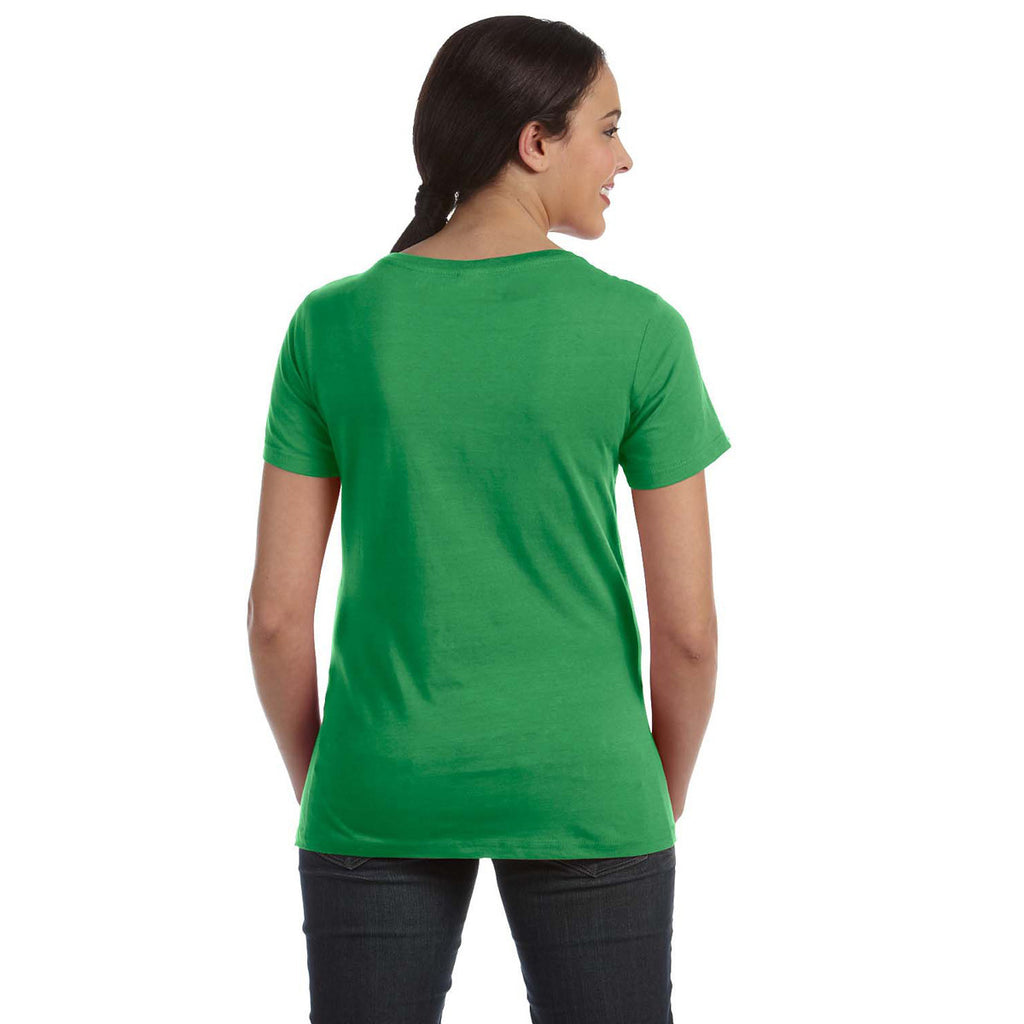 Anvil Women's Green Apple Ringspun Sheer Featherweight T-Shirt