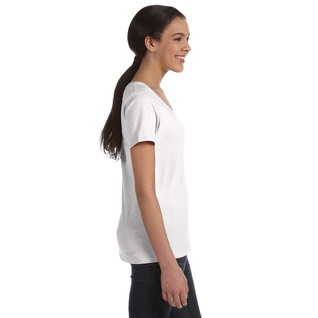 Anvil Women's White Ringspun Sheer Featherweight T-Shirt