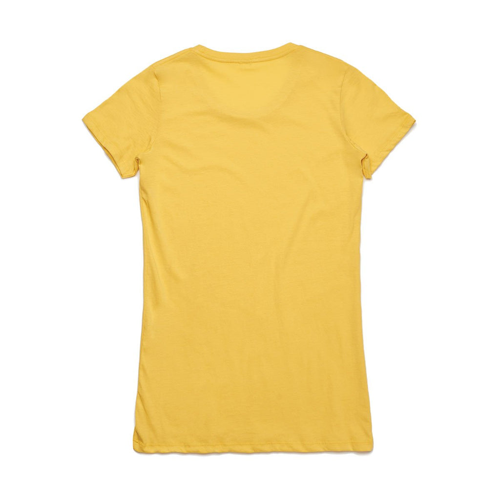 AS Colour Women's Canary Yellow Wafer Tee