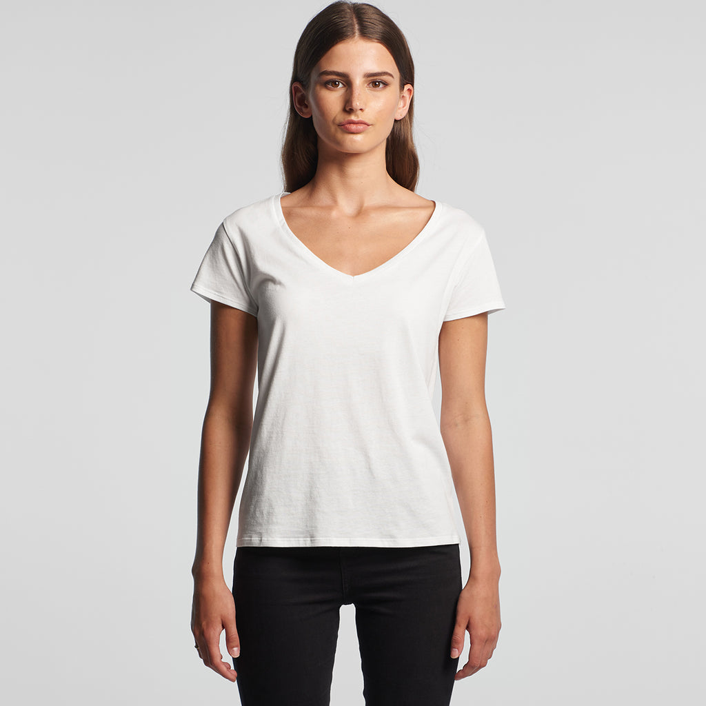 AS Colour Women's White Brea V-Neck Tee