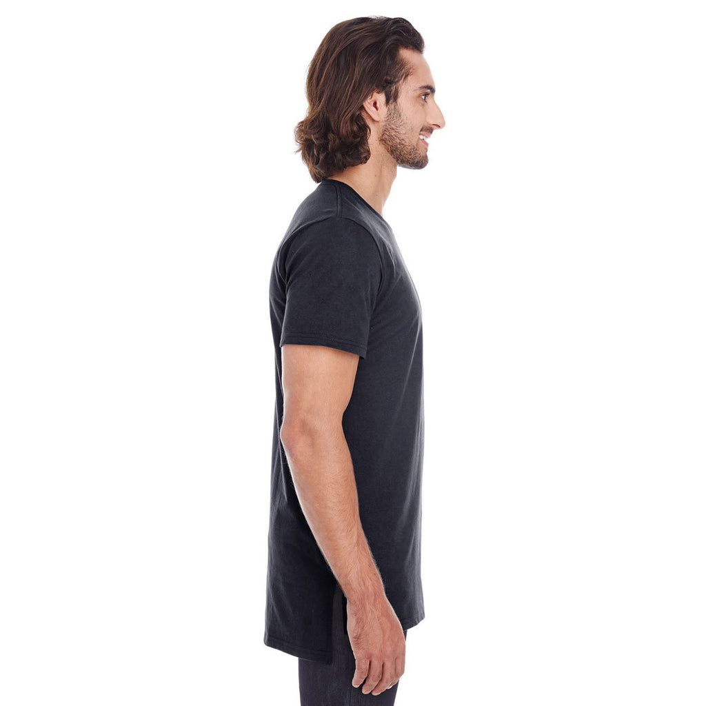 Anvil Men's Black Lightweight Long & Lean Tee