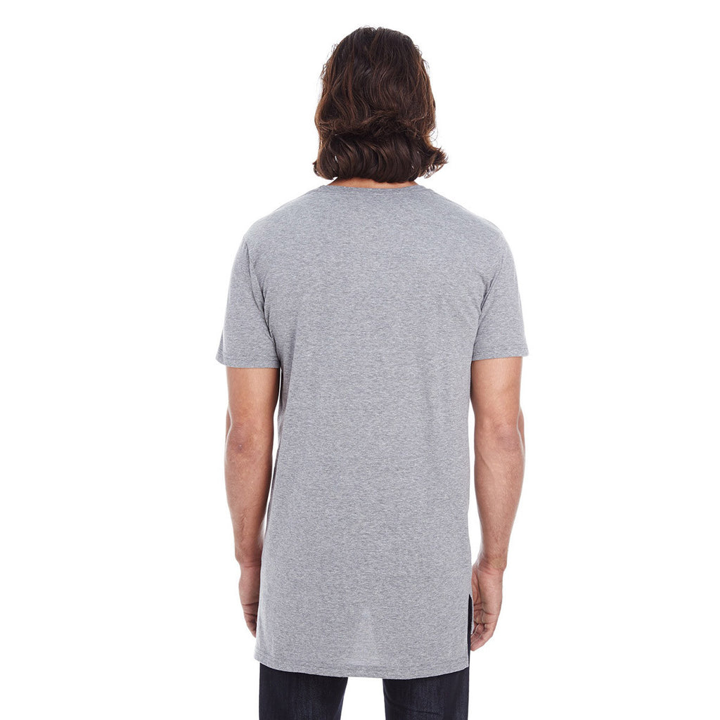 Anvil Men's Heather Graphite Lightweight Long & Lean Tee
