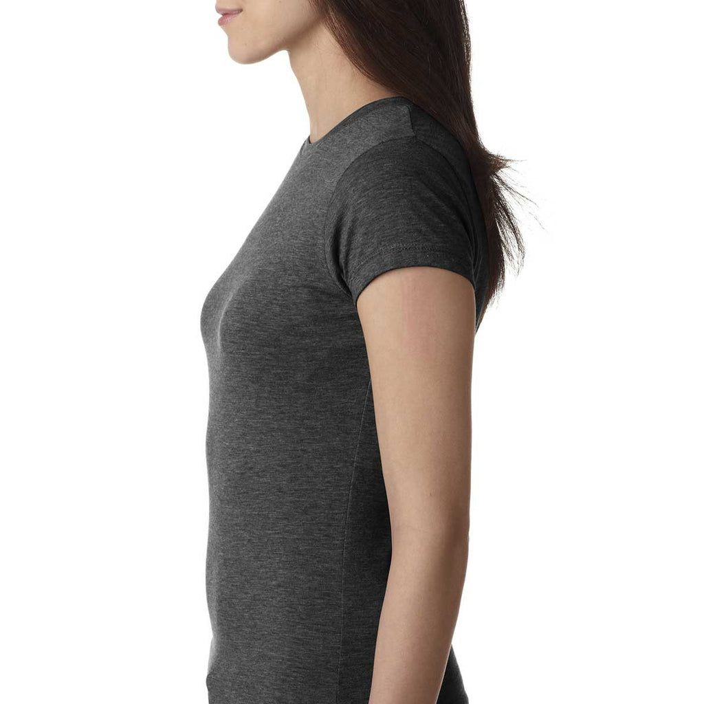 Next Level Women's Charcoal Poly/Cotton Short-Sleeve Tee
