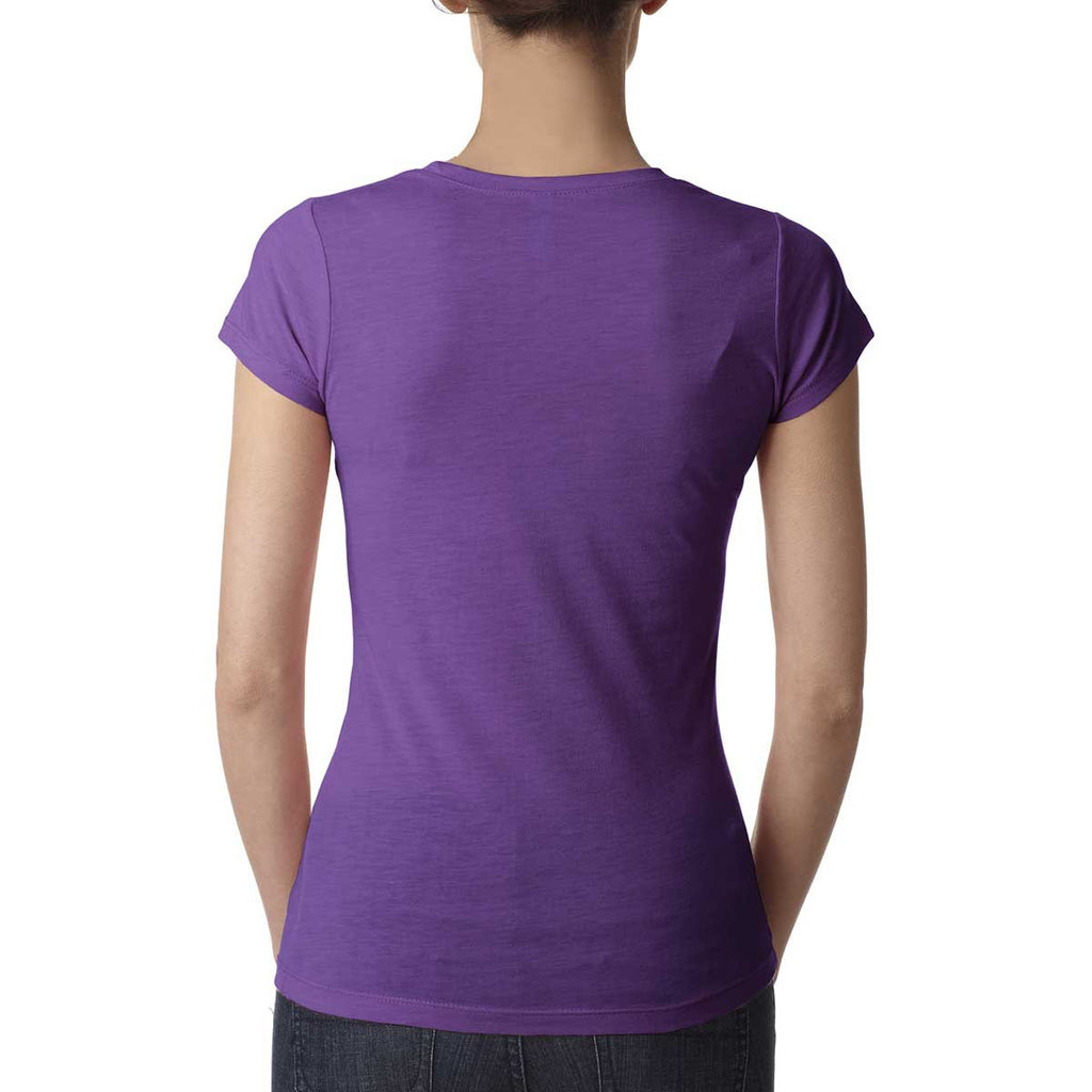Next Level Women's Purple Berry Poly/Cotton Short-Sleeve Tee