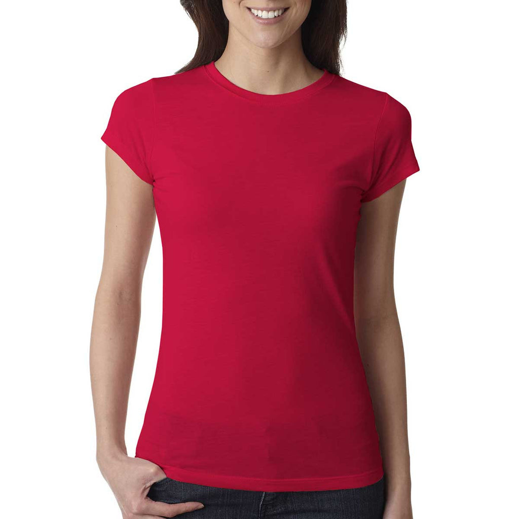 Next Level Women's Red Poly/Cotton Short-Sleeve Tee