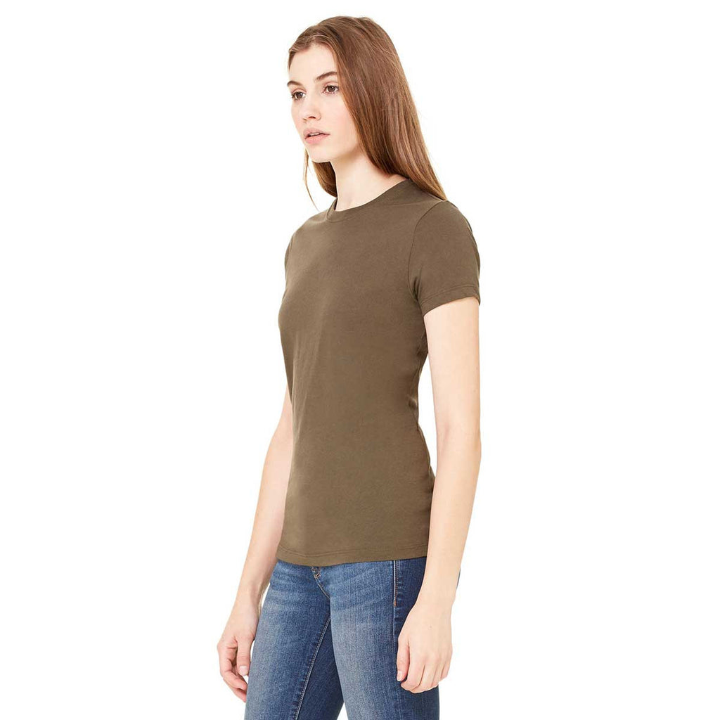 Bella + Canvas Women's Army Jersey Short-Sleeve T-Shirt