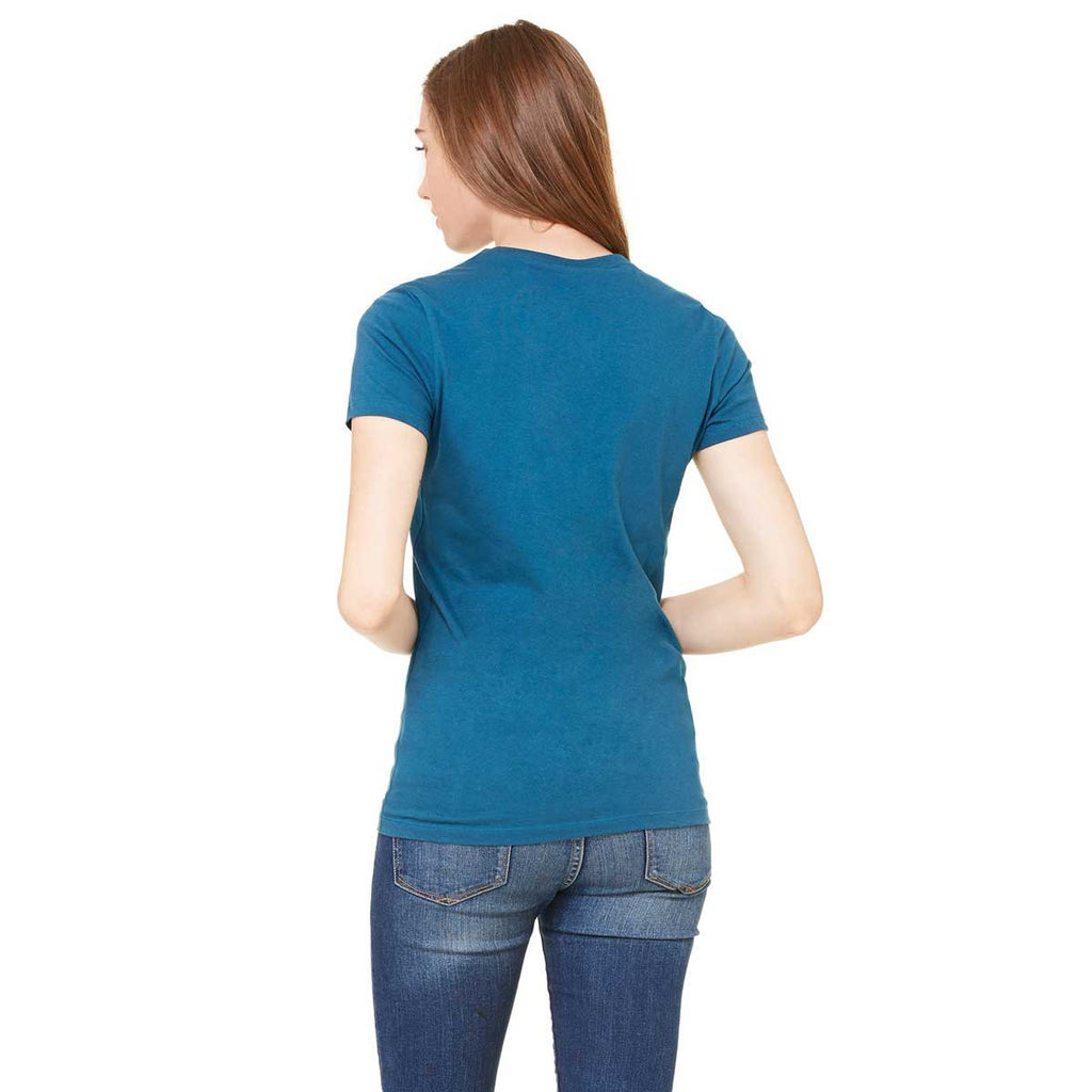 Bella + Canvas Women's Deep Teal Jersey Short-Sleeve T-Shirt