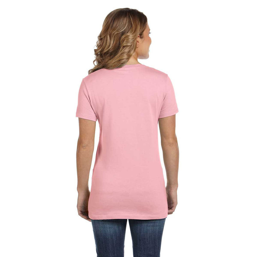 Bella + Canvas Women's Pink Jersey Short-Sleeve T-Shirt
