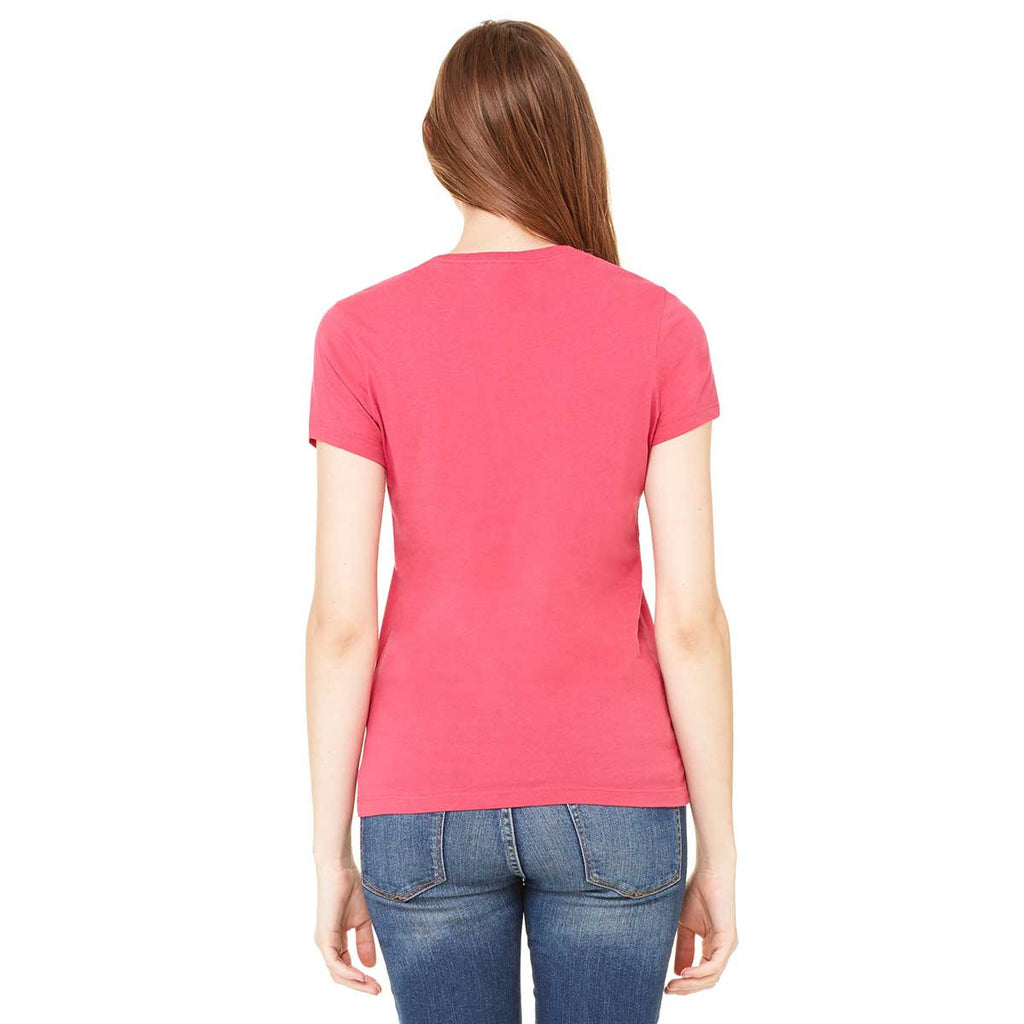 Bella + Canvas Women's Raspberry Jersey Short-Sleeve T-Shirt