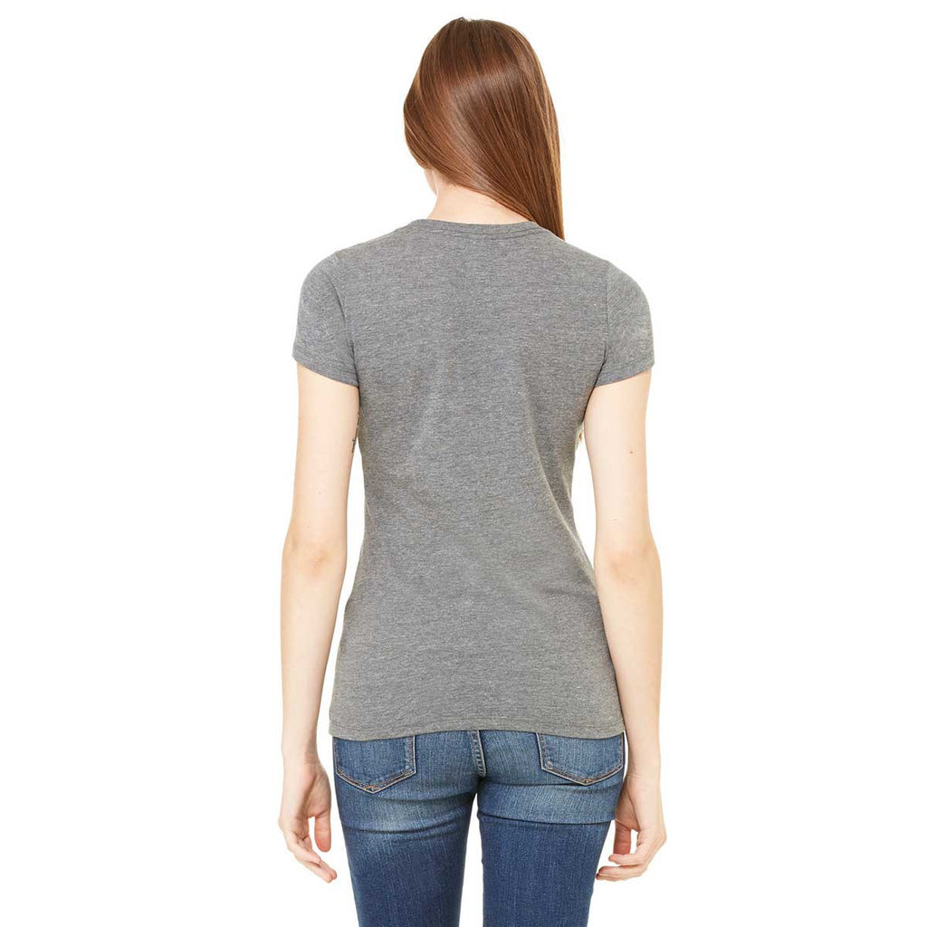 Bella + Canvas Women's Deep Heather Made in the USA Favorite T-Shirt