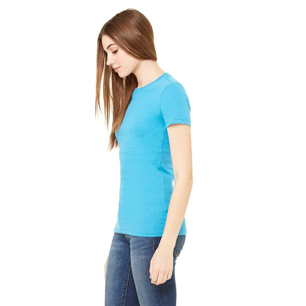 Bella + Canvas Women's Aqua Jersey Short-Sleeve T-Shirt