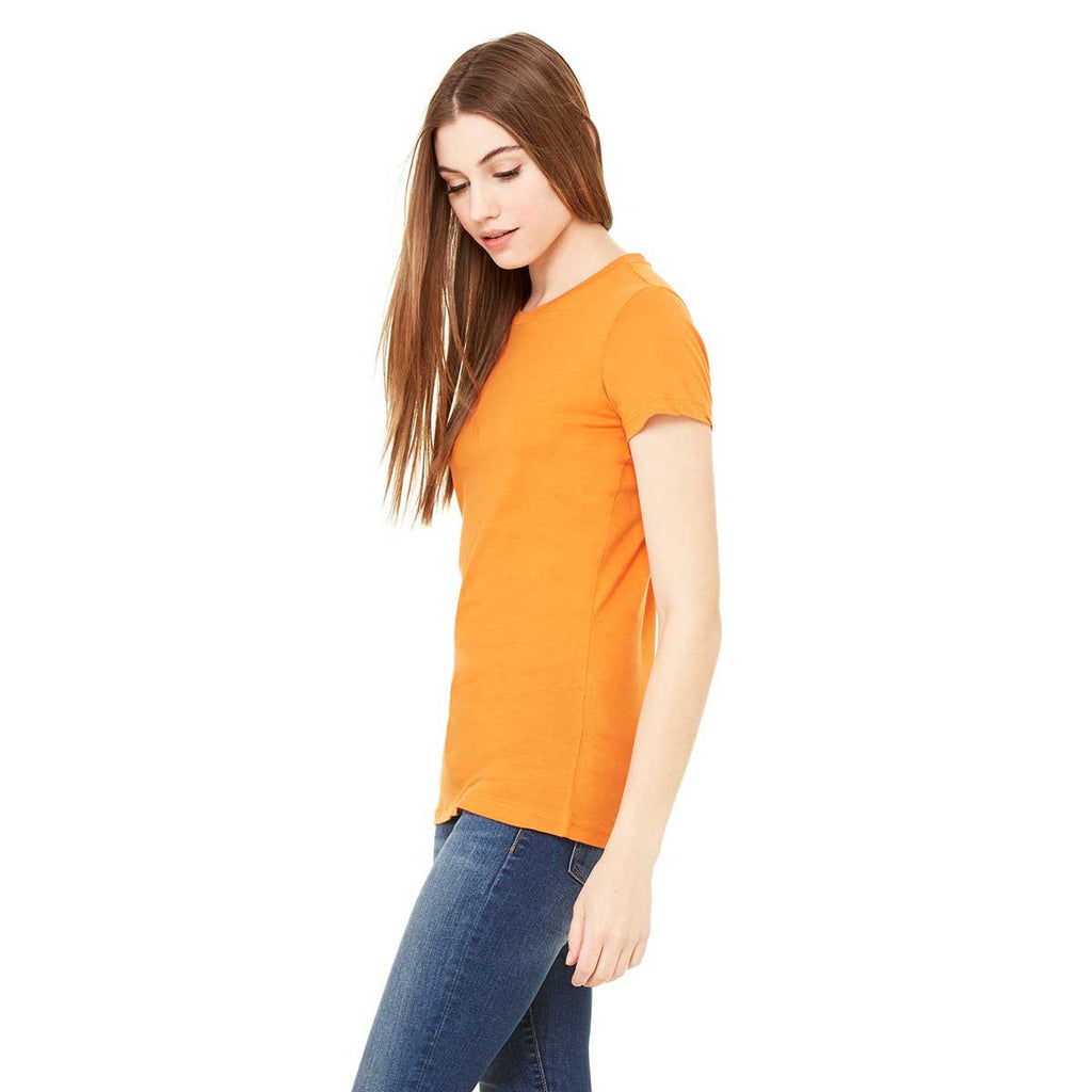 Bella + Canvas Women's Burnt Orange Jersey Short-Sleeve T-Shirt