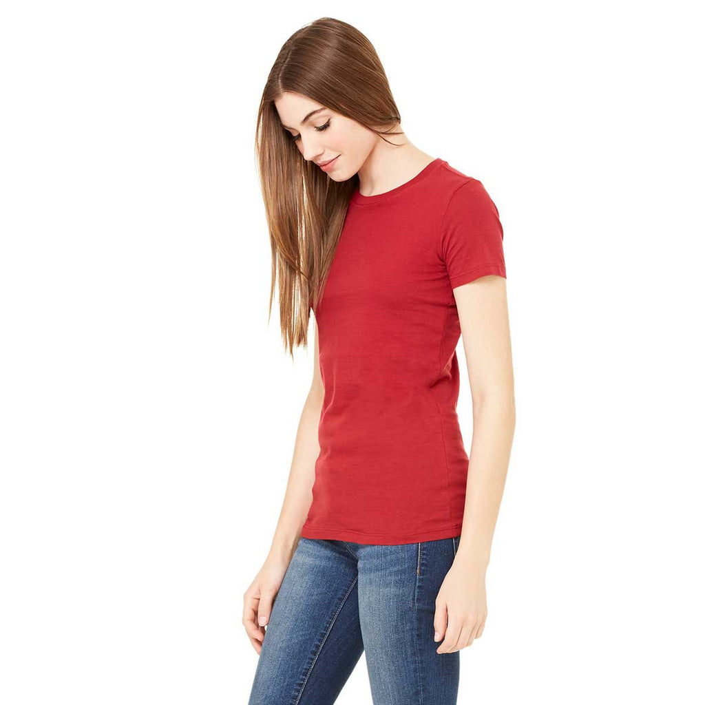 Bella + Canvas Women's Cardinal Jersey Short-Sleeve T-Shirt