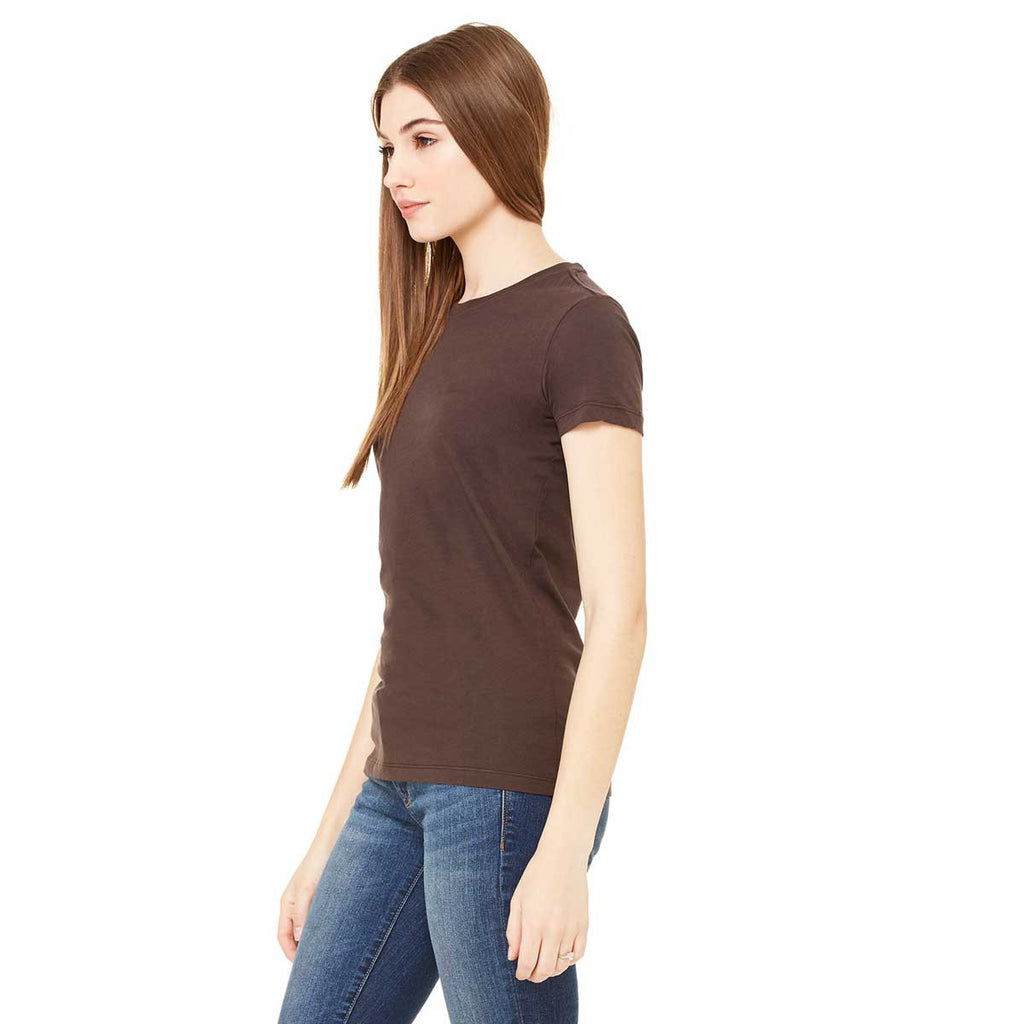 Bella + Canvas Women's Chocolate Jersey Short-Sleeve T-Shirt