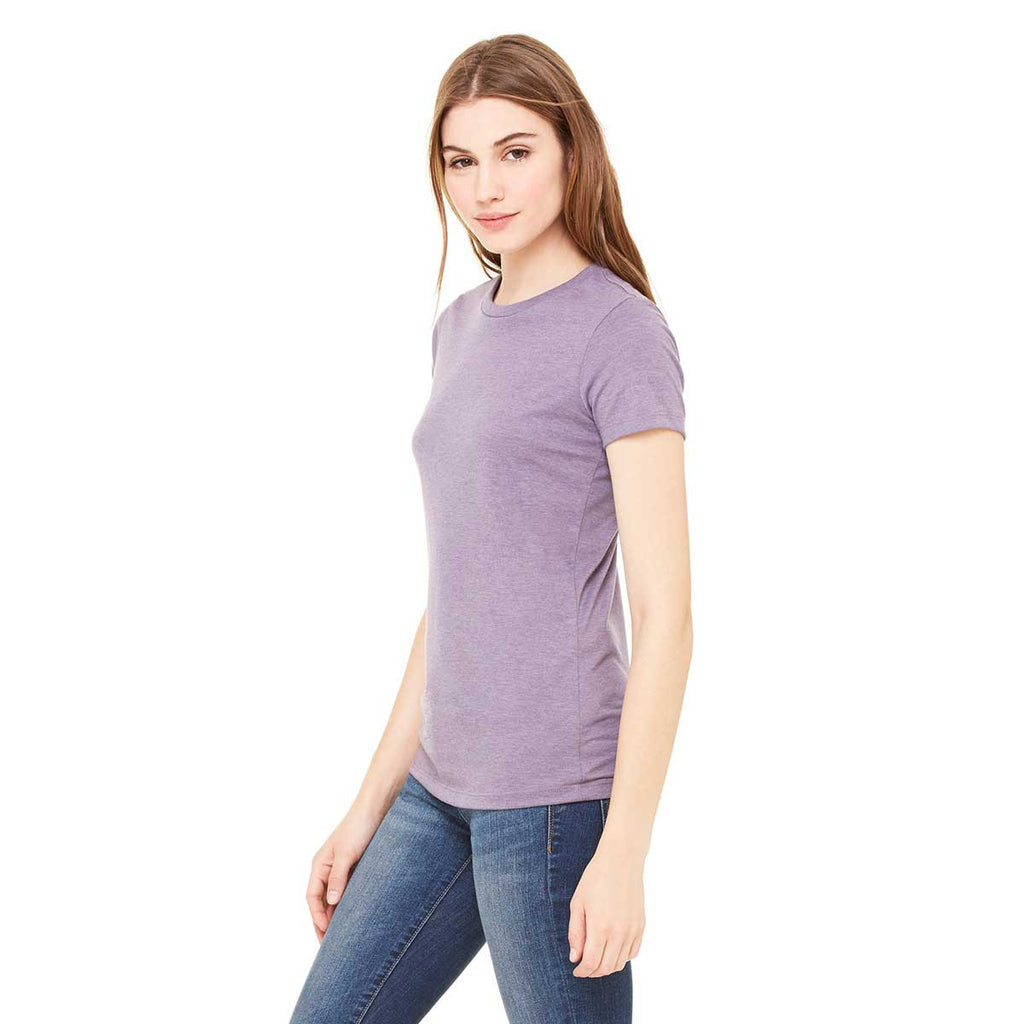 Bella + Canvas Women's Heather Purple Jersey Short-Sleeve T-Shirt