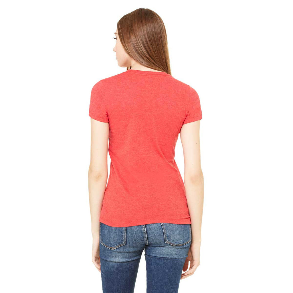 Bella + Canvas Women's Heather Red Jersey Short-Sleeve T-Shirt
