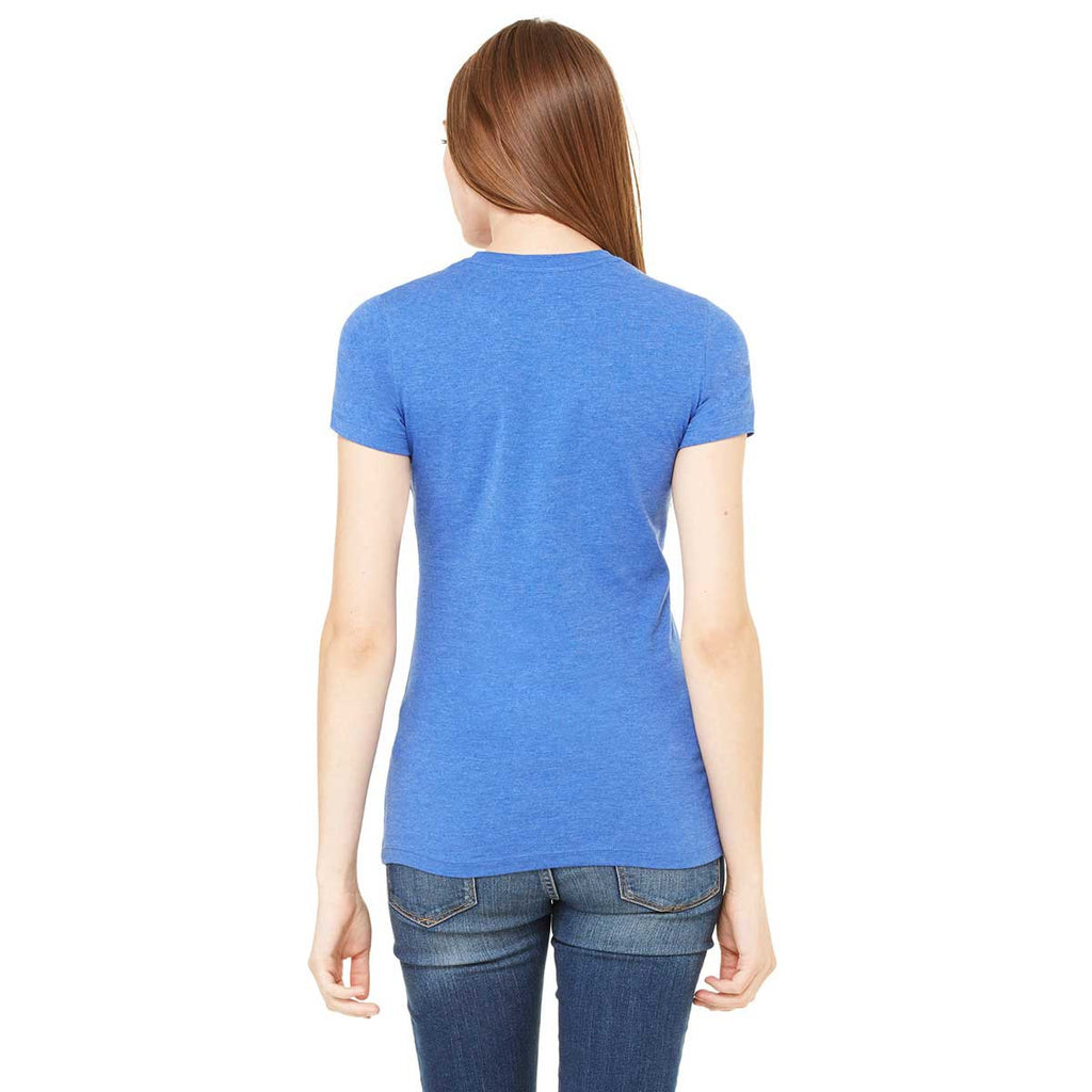 Bella + Canvas Women's Heather True Royal Jersey Short-Sleeve T-Shirt