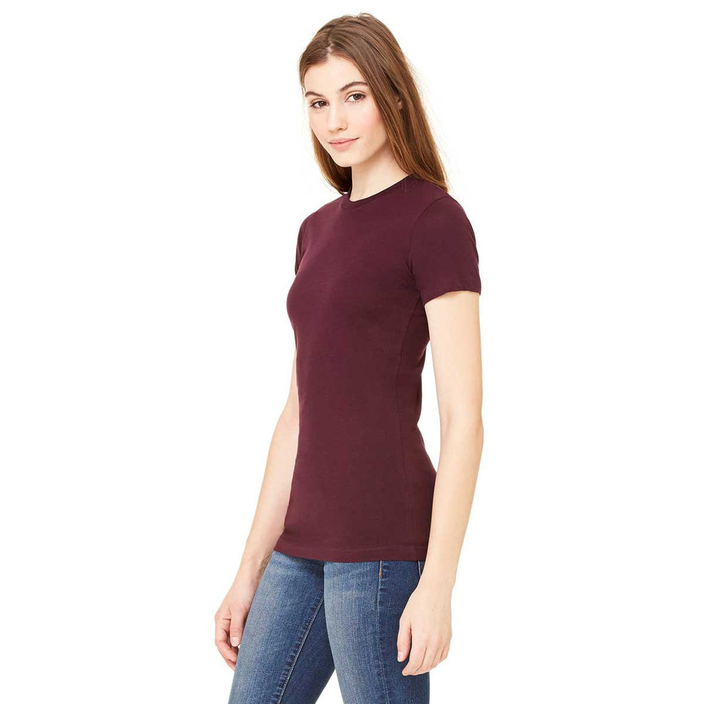 Bella + Canvas Women's Plum Jersey Short-Sleeve T-Shirt