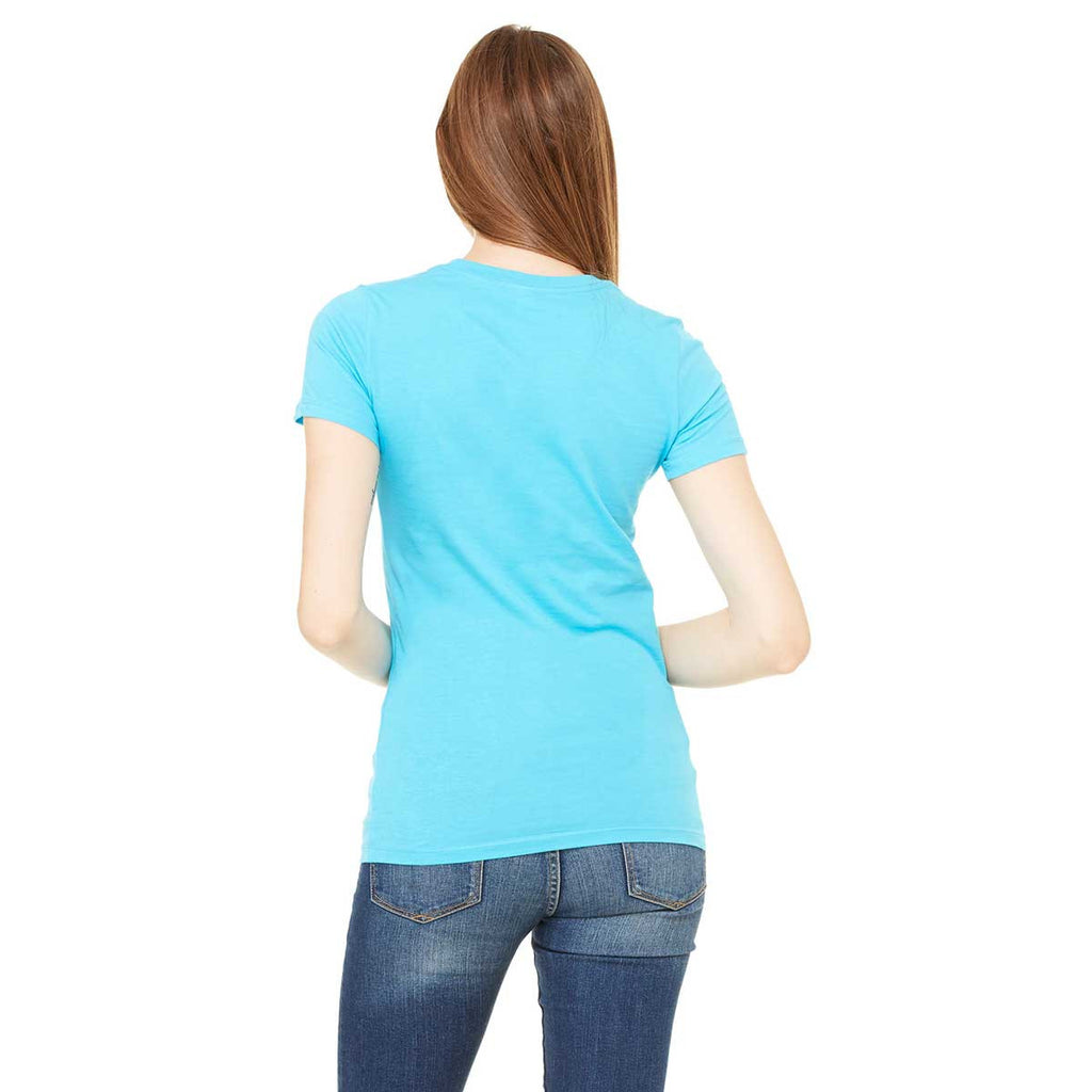 Bella + Canvas Women's Turquoise Jersey Short-Sleeve T-Shirt