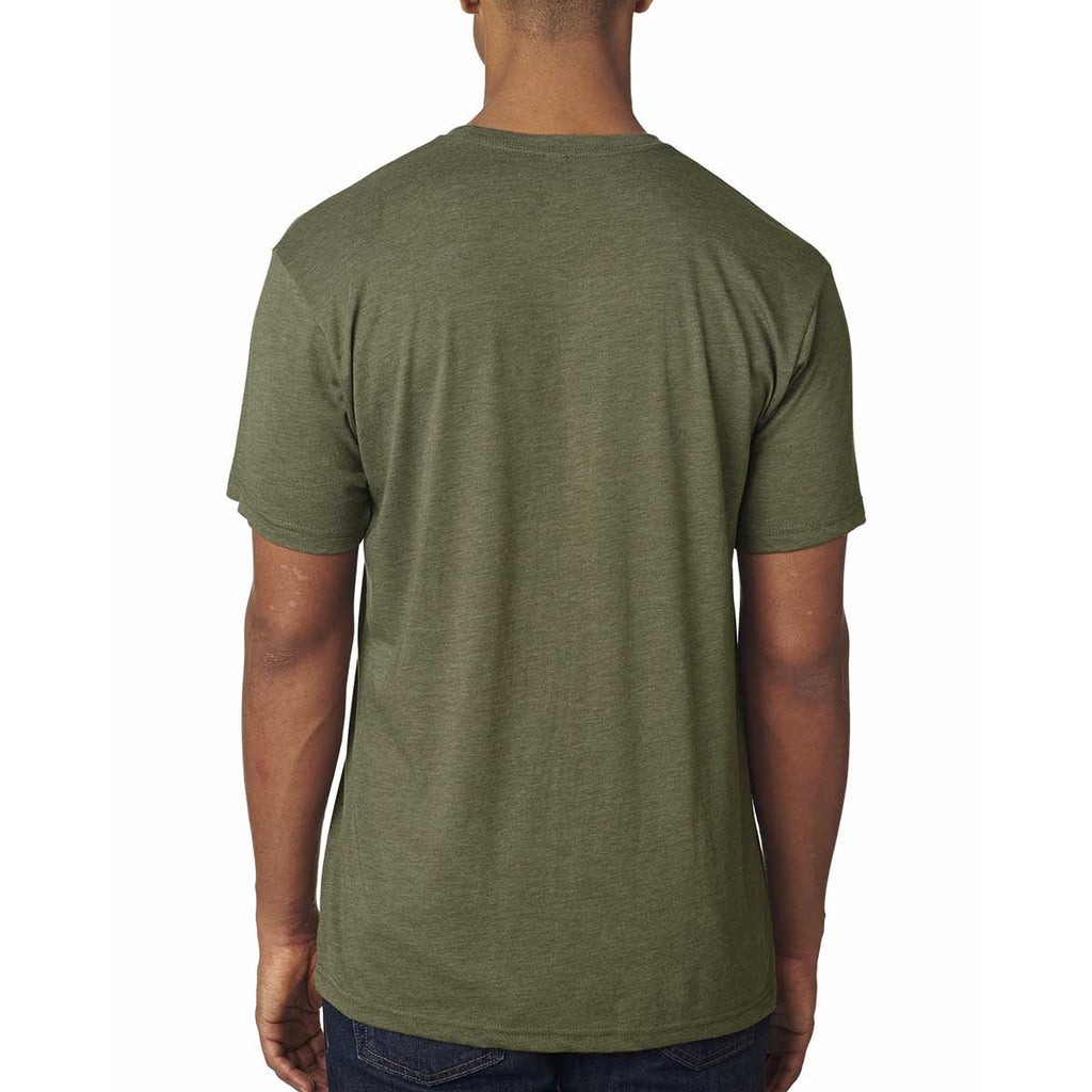 Next Level Men's Military Green Triblend Crew Tee
