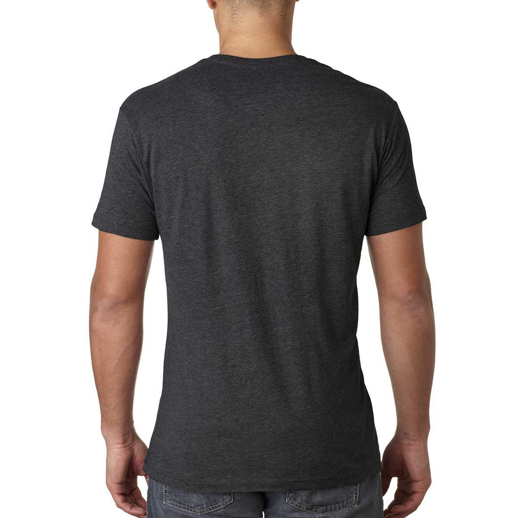 Next Level Men's Vintage Black Triblend V Neck Tee