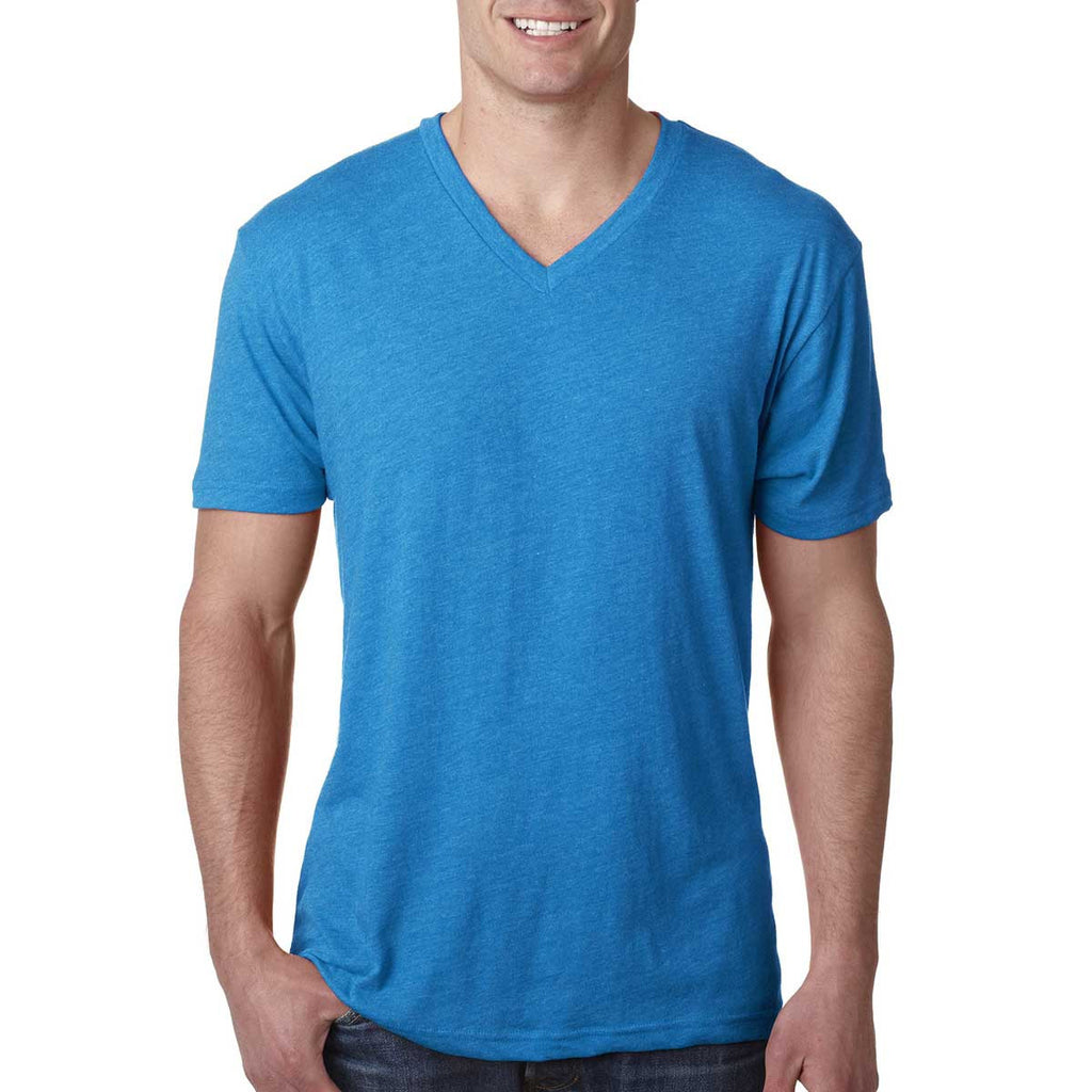 Next Level Men's Vintage Turquoise Triblend V Neck Tee