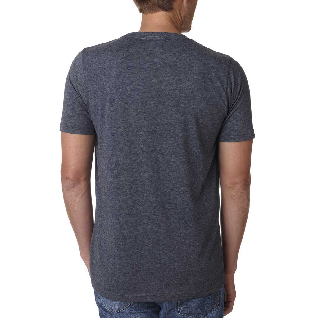 Next Level Men's Antique Denim Poly/Cotton Short-Sleeve Crew Tee