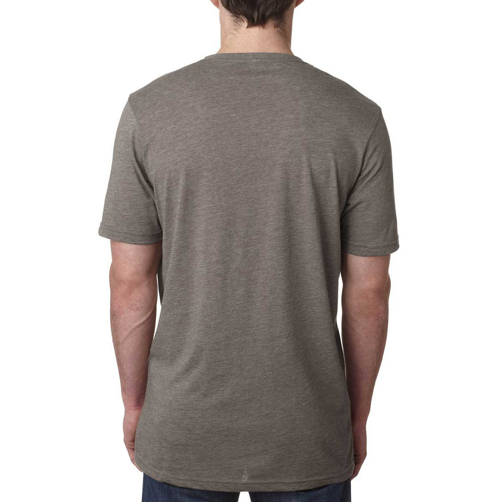 Next Level Men's Ash Poly/Cotton Short-Sleeve Crew Tee