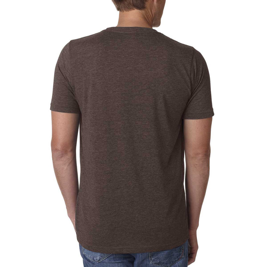 Next Level Men's Espresso Poly/Cotton Short-Sleeve Crew Tee