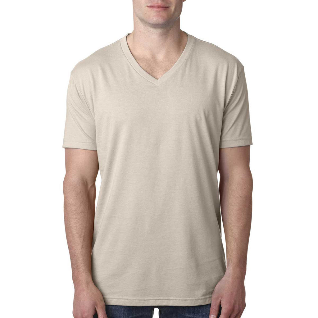 Next Level Men's Sand Premium CVC V-Neck Tee
