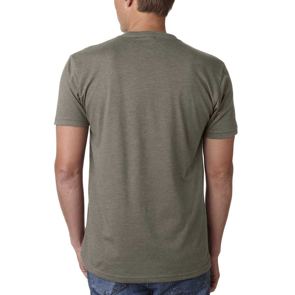 Next Level Men's Warm Gray Premium CVC V-Neck Tee