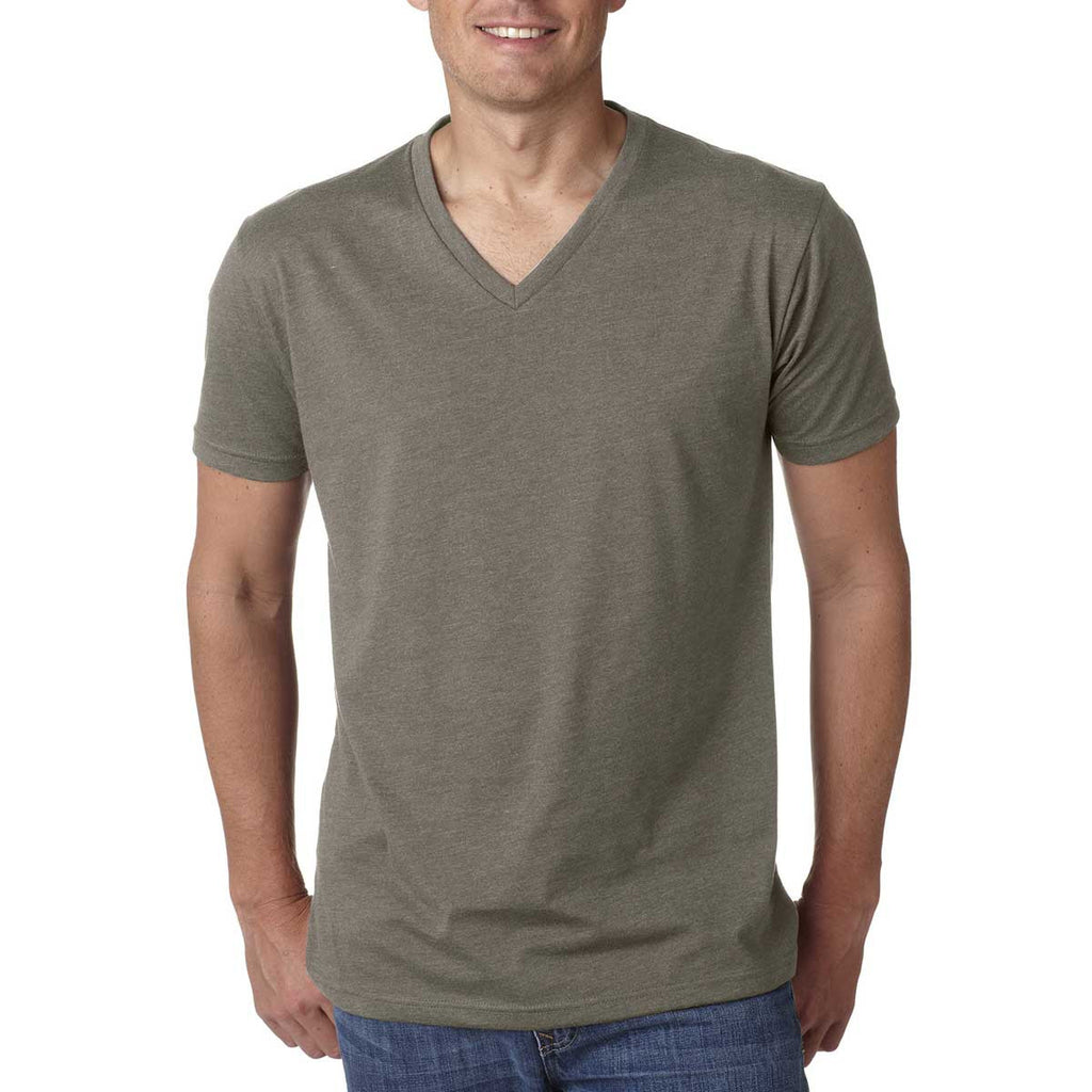 Next Level Men's Warm grey Premium CVC V-Neck Tee
