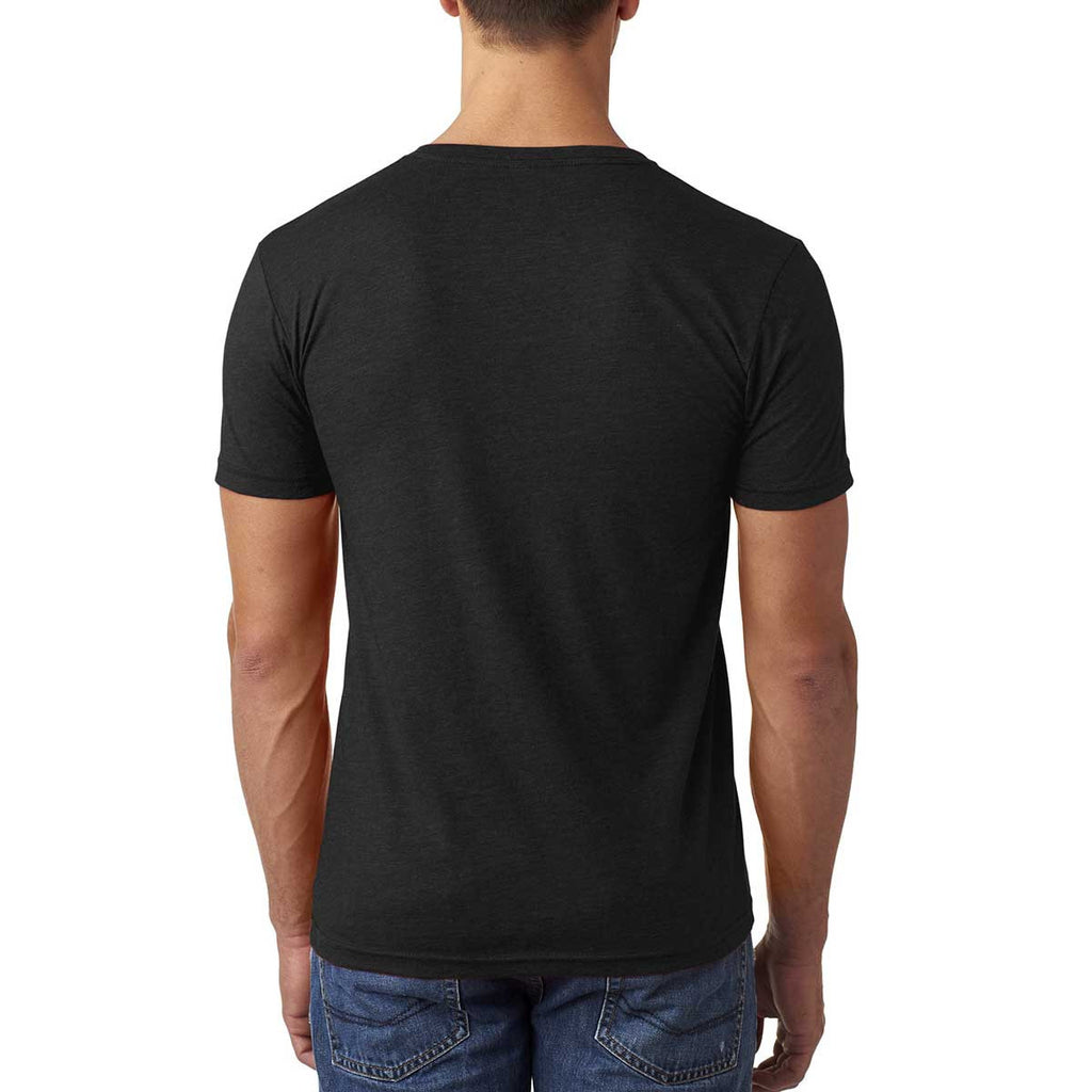 Next Level Men's Black CVC Tee with Pocket