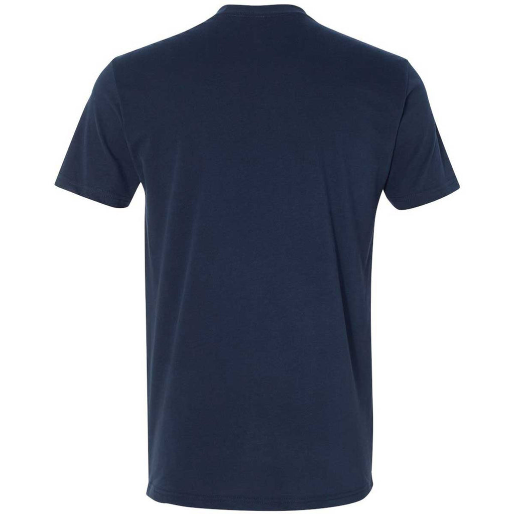 Next Level Men's Midnight Navy Premium Fitted Sueded Crew