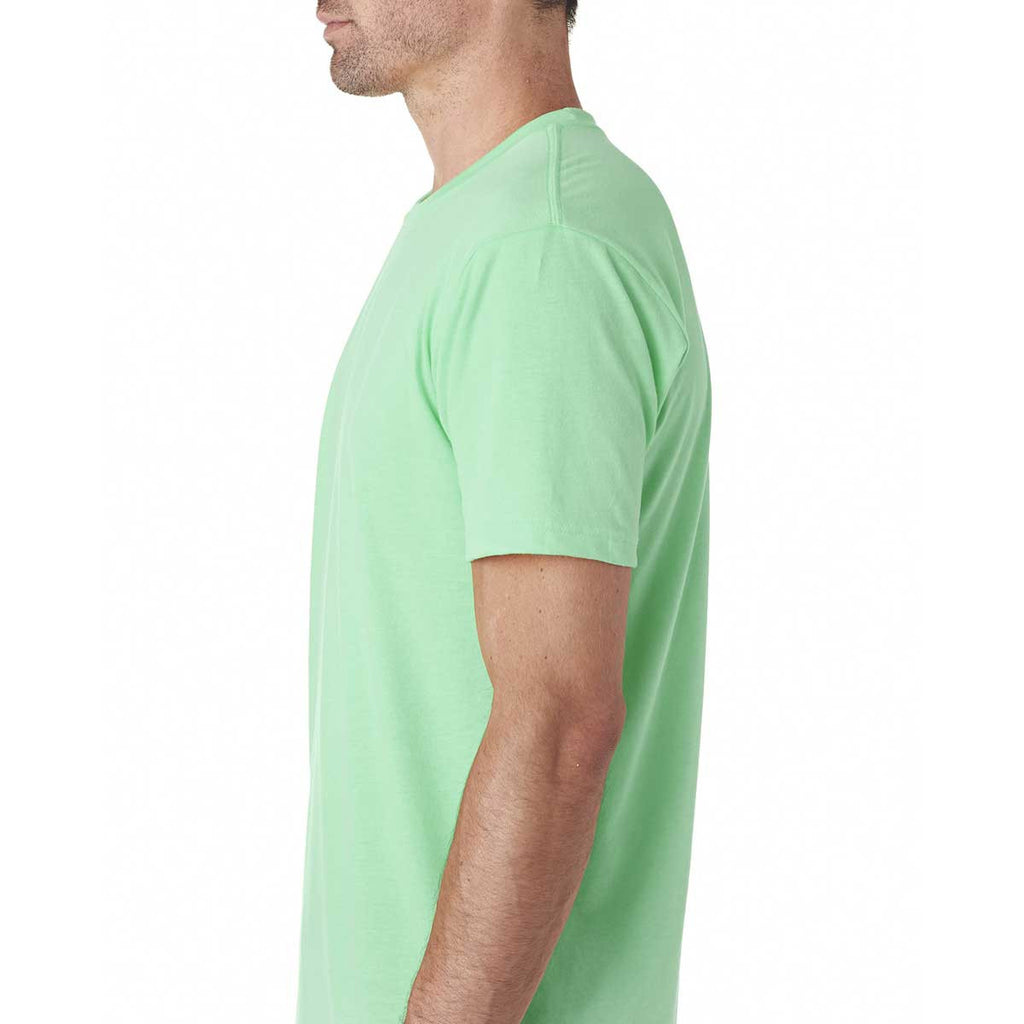 Next Level Men's Mint Premium Fitted Sueded Crew