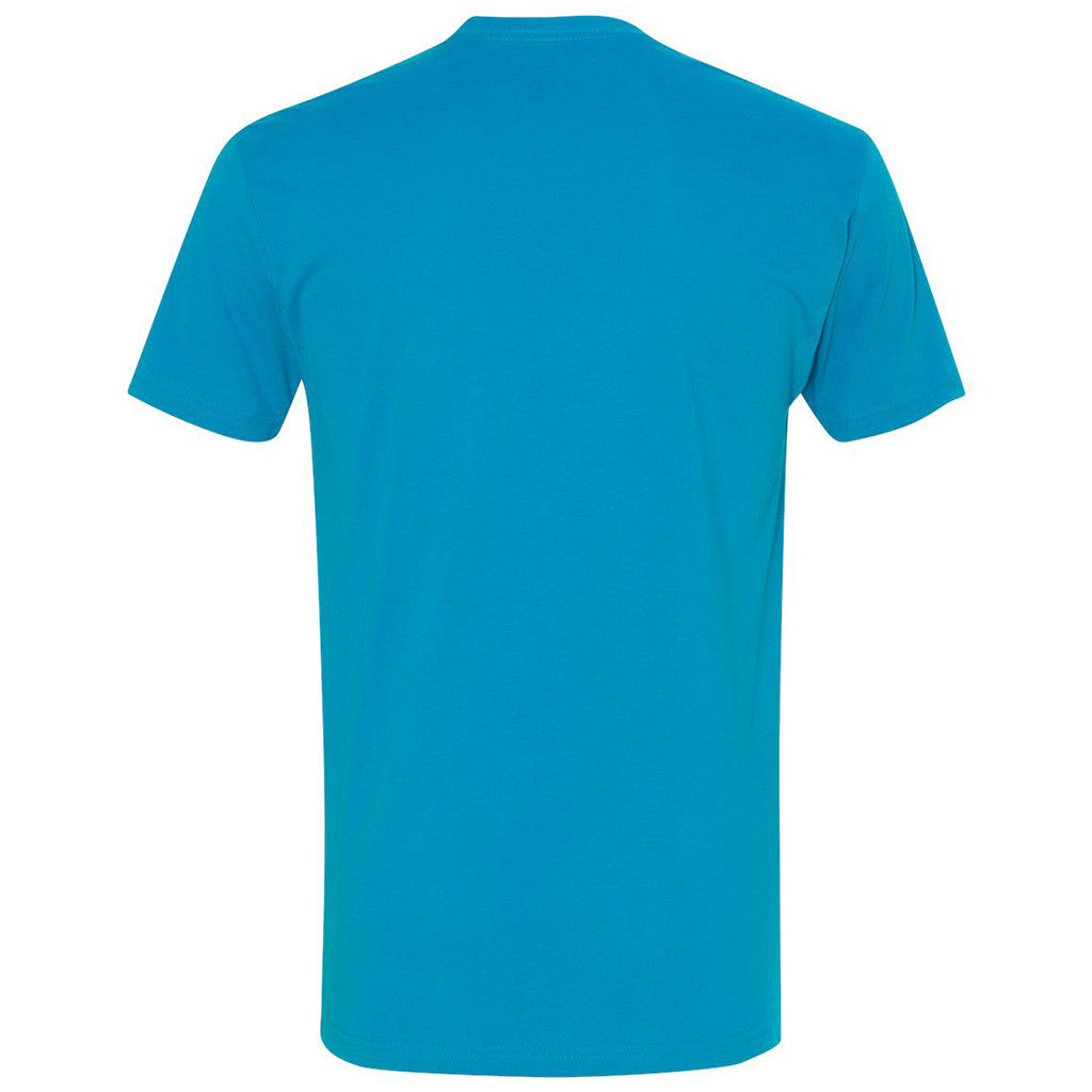 Next Level Men's Turquoise Premium Fitted Sueded Crew