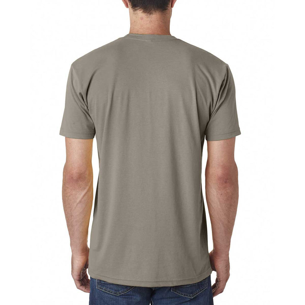 Next Level Men's Warm Gray Premium Fitted Sueded Crew