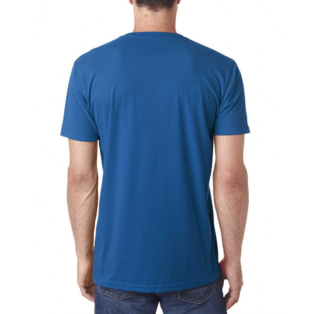 Next Level Men's Cool Blue Premium Fitted Sueded V-Neck Tee