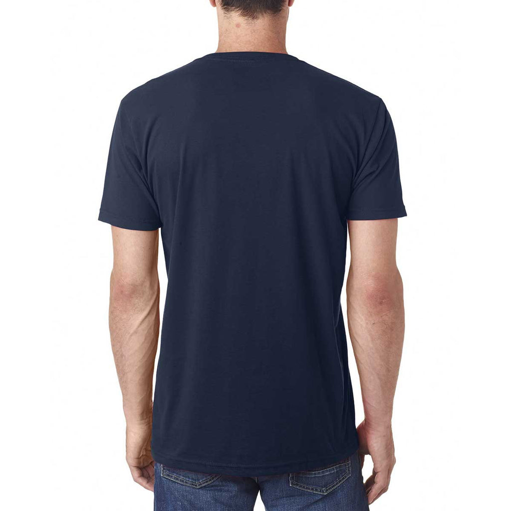 Next Level Men's Midnight Navy Premium Fitted Sueded V-Neck Tee