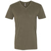 6440-next-level-olive-v-neck-tee